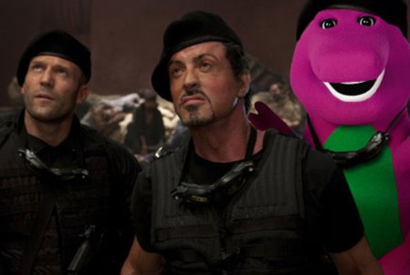 Expendables 2 with Barney